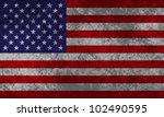 american flag with grunge... | Shutterstock .eps vector #102490595