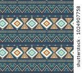 tribal art seamless pattern.... | Shutterstock .eps vector #1024907758