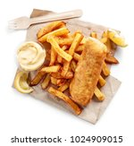 fish and chips isolated on... | Shutterstock . vector #1024909015