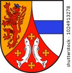 Coat of arms of Wendelsheim in the Alzey-Worms district in Rhineland-Palatinate, Germany. Vector illustration