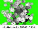 many clocks flowing  time to... | Shutterstock . vector #1024913566