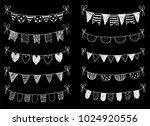 vector set with chalkboard hand ... | Shutterstock .eps vector #1024920556