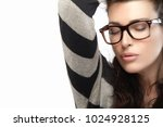 close up gorgeous brunette... | Shutterstock . vector #1024928125