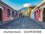 arch street of antigua... | Shutterstock . vector #1024930588