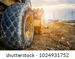 heavy machinery working at... | Shutterstock . vector #1024931752