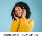 joy and music. colorful studio... | Shutterstock . vector #1024934842