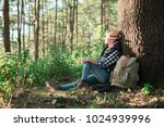 young beautiful hiker woman... | Shutterstock . vector #1024939996