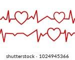 love waves background logo | Shutterstock .eps vector #1024945366