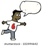 cartoon man in number six shirt | Shutterstock . vector #102494642