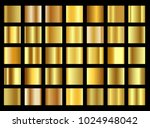 set of golden gradient... | Shutterstock .eps vector #1024948042