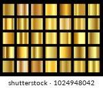 set of golden gradient...   Shutterstock .eps vector #1024948042