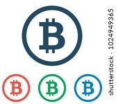 bitcoin icon set   simple flat... | Shutterstock .eps vector #1024949365