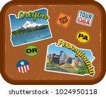 oregon  pennsylvania travel... | Shutterstock .eps vector #1024950118