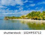astonishing beach with... | Shutterstock . vector #1024953712