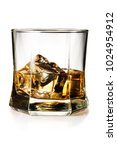 glass of whiskey on the rocks... | Shutterstock . vector #1024954912