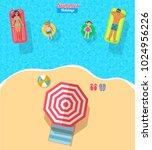 top view vector banner with ... | Shutterstock .eps vector #1024956226