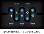layered infographic timeline.... | Shutterstock .eps vector #1024956298