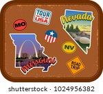 missouri  nevada travel...   Shutterstock .eps vector #1024956382