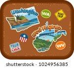 washington  west virginia... | Shutterstock .eps vector #1024956385