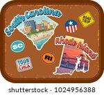 south carolina  rhode island... | Shutterstock .eps vector #1024956388