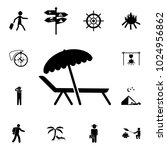 chair and beach umbrella icon.... | Shutterstock .eps vector #1024956862