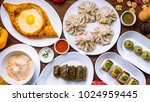 georgian cuisine foodset from...   Shutterstock . vector #1024959445