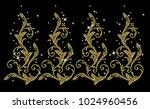 rhinestone applique pattern... | Shutterstock .eps vector #1024960456