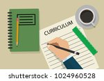 writing a cv. eps vector... | Shutterstock .eps vector #1024960528