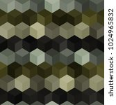 hexagon grid seamless vector... | Shutterstock .eps vector #1024965832