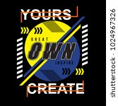 your own create typography t... | Shutterstock .eps vector #1024967326