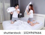 cheerful young couple having a... | Shutterstock . vector #1024969666