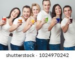 happy together concept. company ... | Shutterstock . vector #1024970242