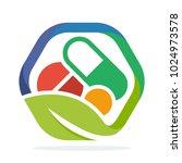 logo icon for herbal medicine... | Shutterstock .eps vector #1024973578