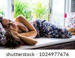 beautiful brunette woman in...   Shutterstock . vector #1024977676