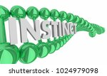 instinct word dna hereditary... | Shutterstock . vector #1024979098