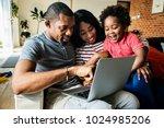 african family spending time...   Shutterstock . vector #1024985206