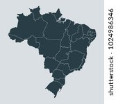 brazil map on white background... | Shutterstock .eps vector #1024986346