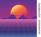 retro background futuristic... | Shutterstock .eps vector #1024988542