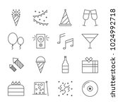 party  icon vector | Shutterstock .eps vector #1024992718