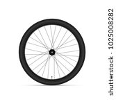 mountain bicycle wheel. 3d... | Shutterstock .eps vector #1025008282