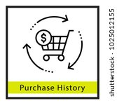 purchase history vector icon | Shutterstock .eps vector #1025012155