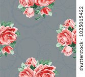 seamless floral pattern with... | Shutterstock .eps vector #1025015422