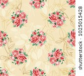 seamless floral pattern with... | Shutterstock .eps vector #1025015428