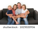 young attractive and happy... | Shutterstock . vector #1025020936