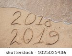 new year 2019 is coming concept ... | Shutterstock . vector #1025025436