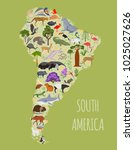 south america flora and fauna... | Shutterstock .eps vector #1025027626