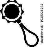 baby rattle icon vector art... | Shutterstock .eps vector #1025028292