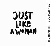 just like a woman abstract... | Shutterstock .eps vector #1025028412