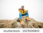 living conditions of man in... | Shutterstock . vector #1025030842