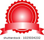 red badge with ribbon | Shutterstock .eps vector #1025034232